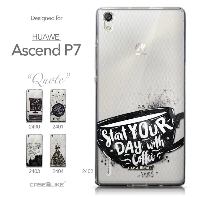 Collection - CASEiLIKE Huawei Ascend P7 back cover Quote 2402