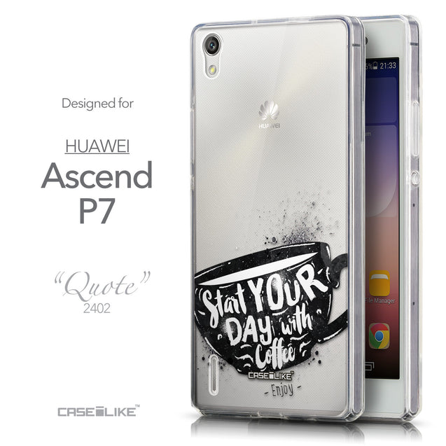 Front & Side View - CASEiLIKE Huawei Ascend P7 back cover Quote 2402