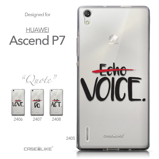 Collection - CASEiLIKE Huawei Ascend P7 back cover Quote 2405
