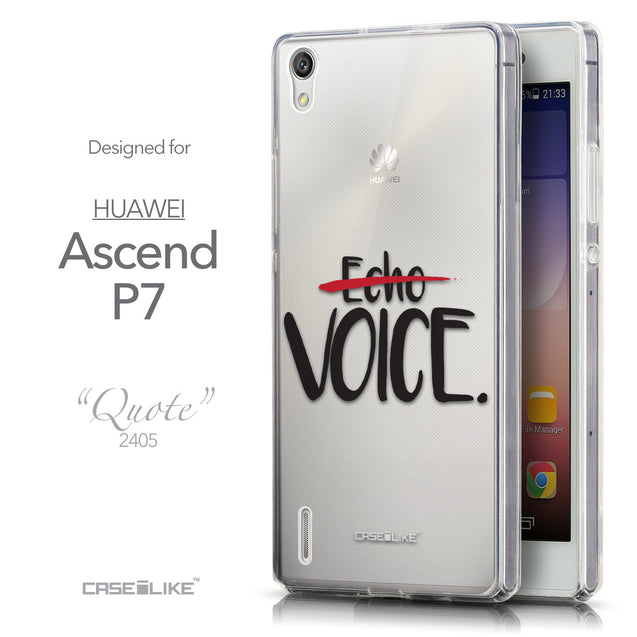 Front & Side View - CASEiLIKE Huawei Ascend P7 back cover Quote 2405