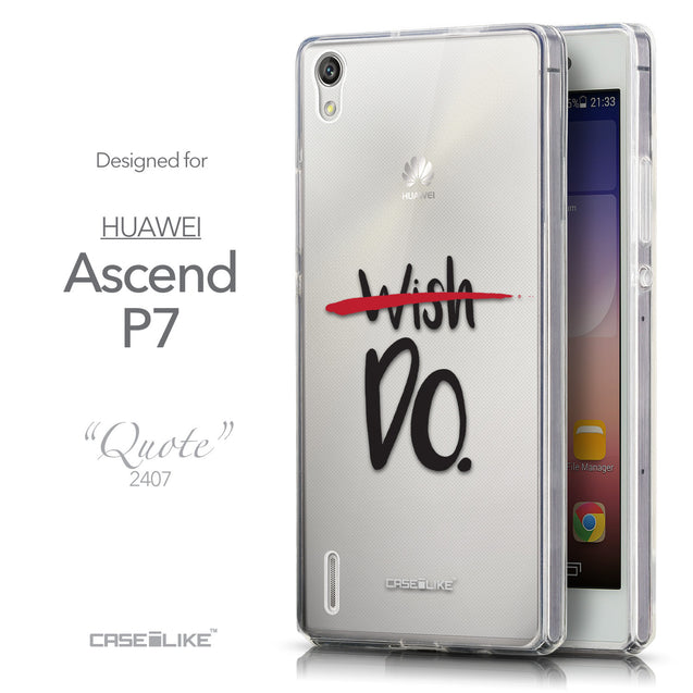 Front & Side View - CASEiLIKE Huawei Ascend P7 back cover Quote 2407