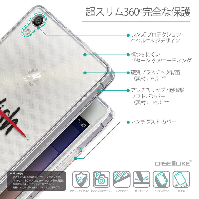 Details in Japanese - CASEiLIKE Huawei Ascend P7 back cover Quote 2407
