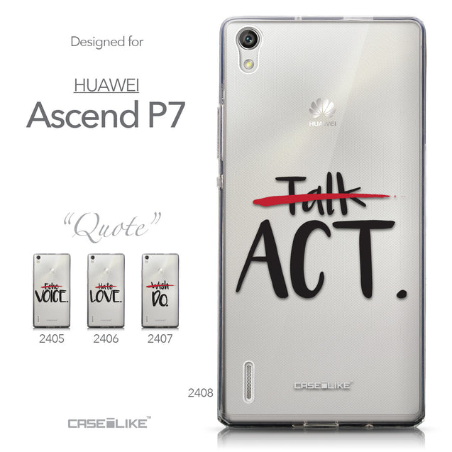 Collection - CASEiLIKE Huawei Ascend P7 back cover Quote 2408