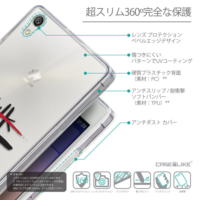 Details in Japanese - CASEiLIKE Huawei Ascend P7 back cover Quote 2408