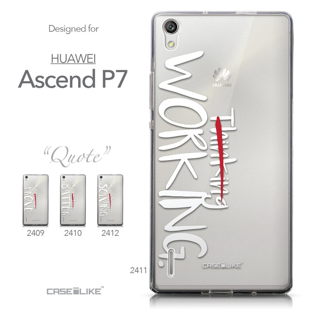 Collection - CASEiLIKE Huawei Ascend P7 back cover Quote 2411