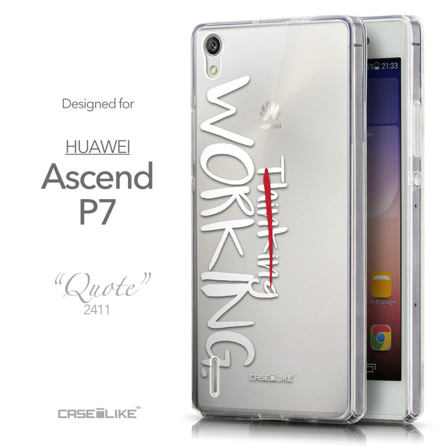 Front & Side View - CASEiLIKE Huawei Ascend P7 back cover Quote 2411