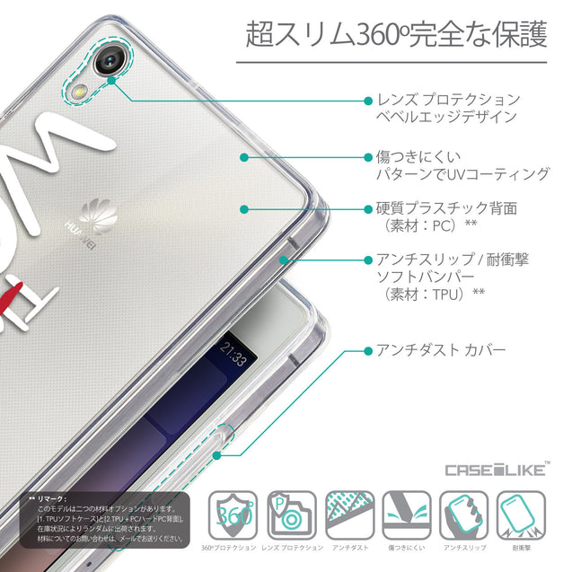Details in Japanese - CASEiLIKE Huawei Ascend P7 back cover Quote 2411