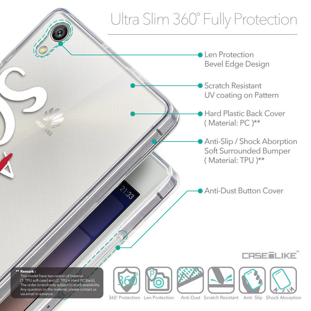 Details in English - CASEiLIKE Huawei Ascend P7 back cover Quote 2412