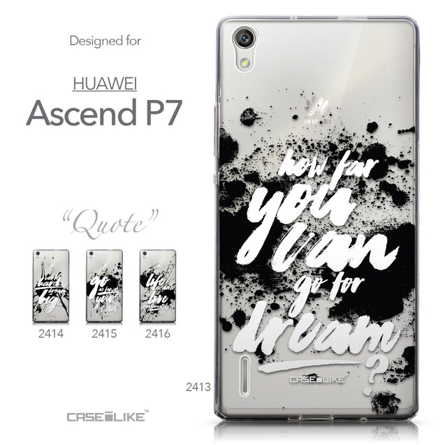 Collection - CASEiLIKE Huawei Ascend P7 back cover Quote 2413