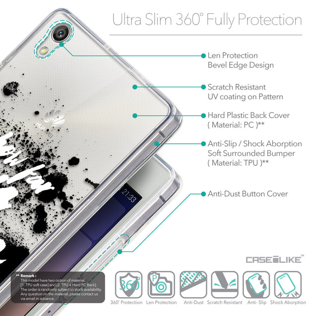 Details in English - CASEiLIKE Huawei Ascend P7 back cover Quote 2413