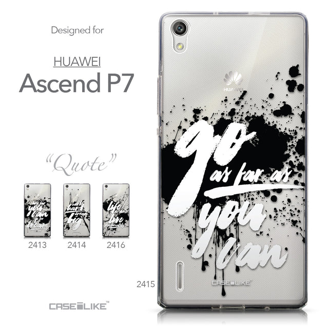 Collection - CASEiLIKE Huawei Ascend P7 back cover Quote 2415
