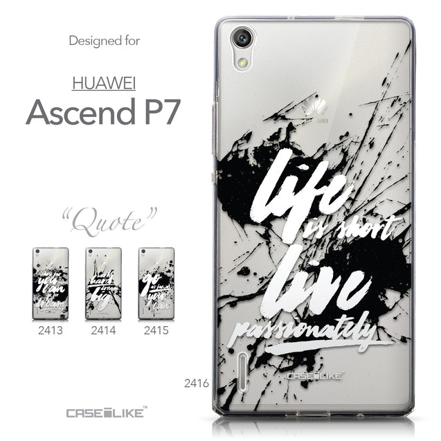 Collection - CASEiLIKE Huawei Ascend P7 back cover Quote 2416