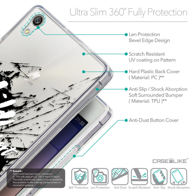 Details in English - CASEiLIKE Huawei Ascend P7 back cover Quote 2416