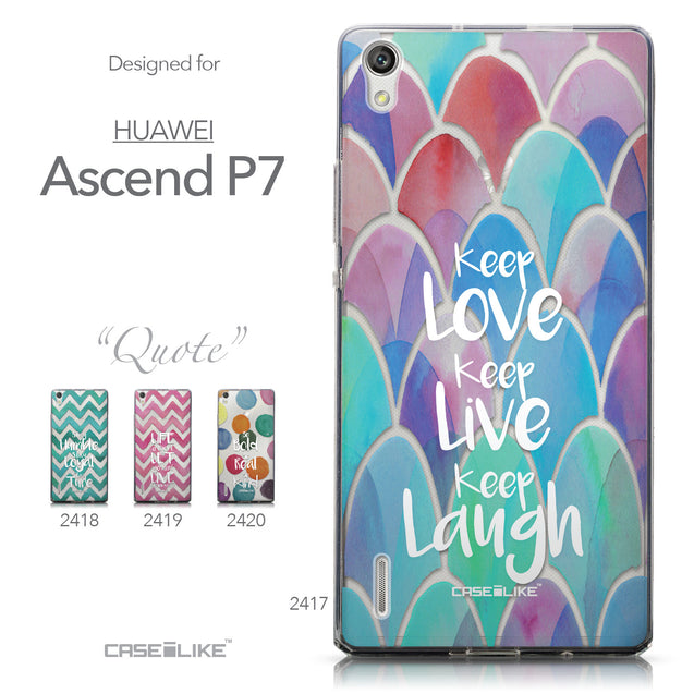 Collection - CASEiLIKE Huawei Ascend P7 back cover Quote 2417