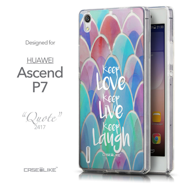 Front & Side View - CASEiLIKE Huawei Ascend P7 back cover Quote 2417