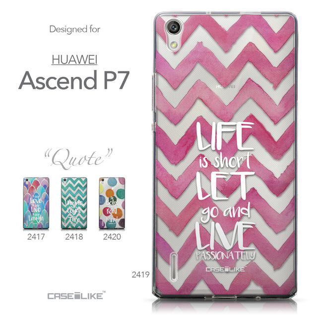 Collection - CASEiLIKE Huawei Ascend P7 back cover Quote 2419
