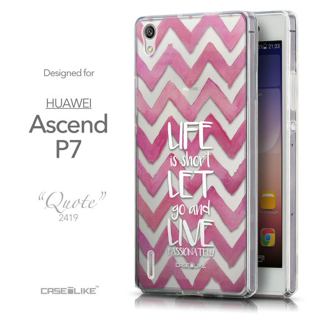 Front & Side View - CASEiLIKE Huawei Ascend P7 back cover Quote 2419