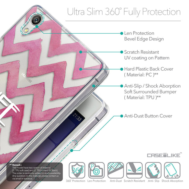 Details in English - CASEiLIKE Huawei Ascend P7 back cover Quote 2419