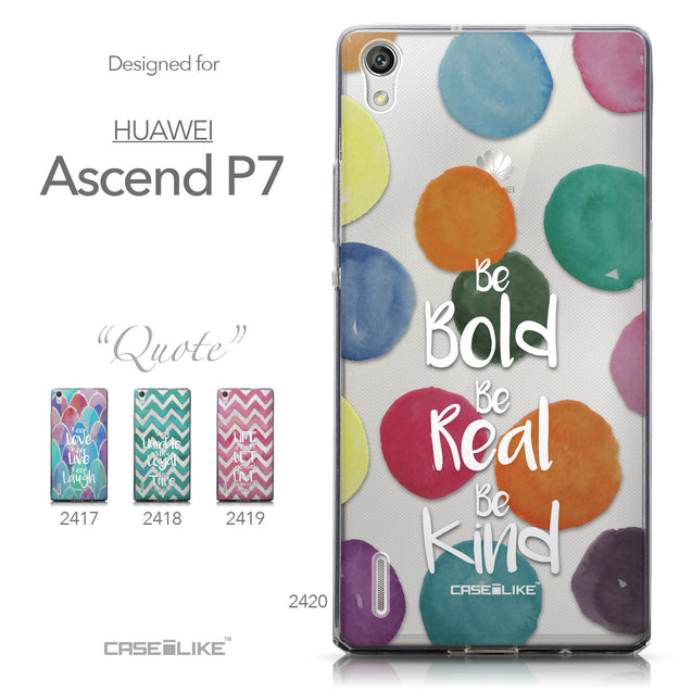 Collection - CASEiLIKE Huawei Ascend P7 back cover Quote 2420