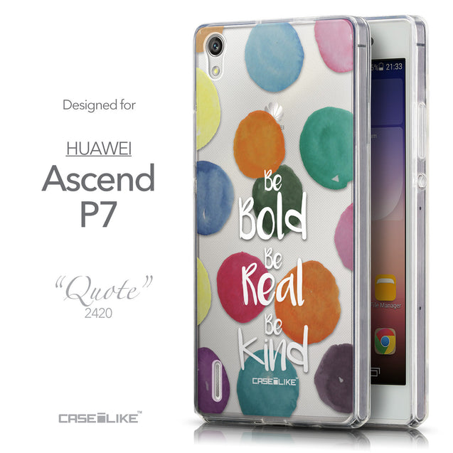 Front & Side View - CASEiLIKE Huawei Ascend P7 back cover Quote 2420