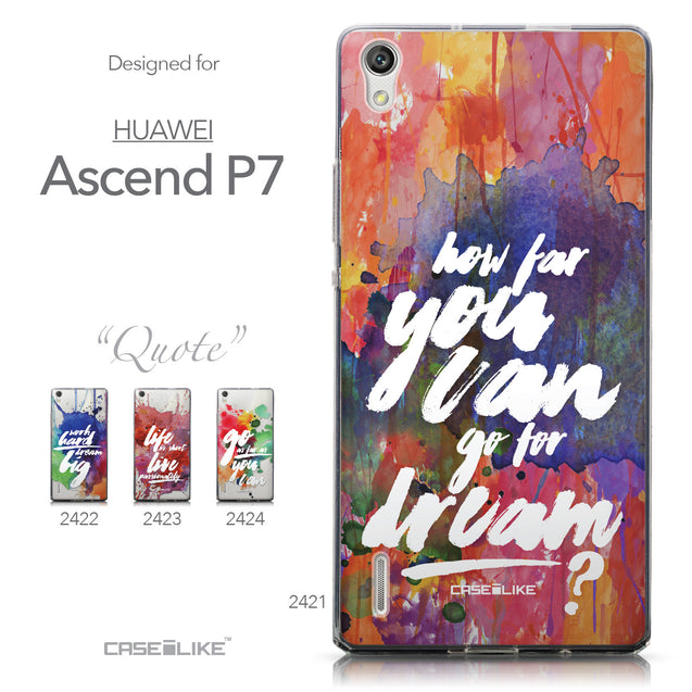 Collection - CASEiLIKE Huawei Ascend P7 back cover Quote 2421