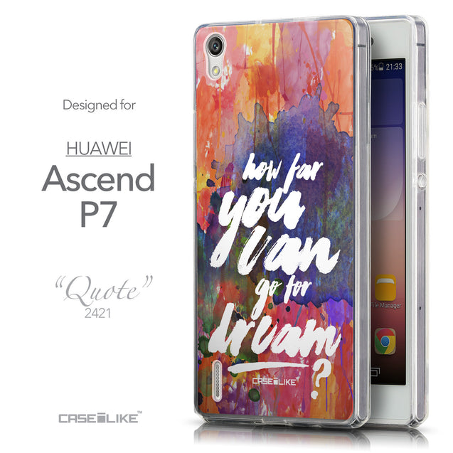 Front & Side View - CASEiLIKE Huawei Ascend P7 back cover Quote 2421
