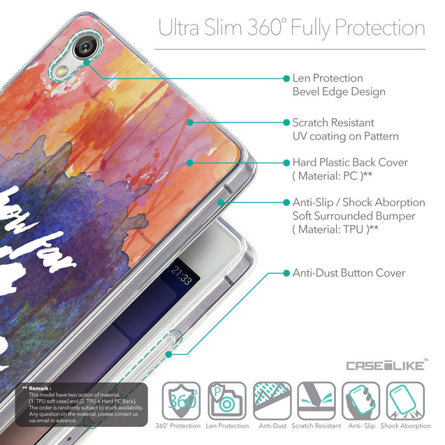 Details in English - CASEiLIKE Huawei Ascend P7 back cover Quote 2421