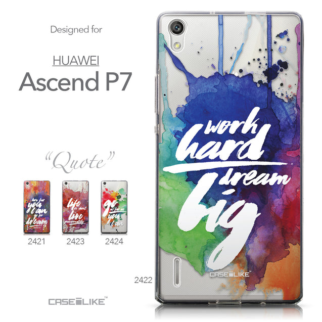 Collection - CASEiLIKE Huawei Ascend P7 back cover Quote 2422