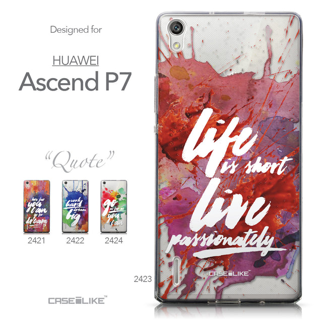 Collection - CASEiLIKE Huawei Ascend P7 back cover Quote 2423