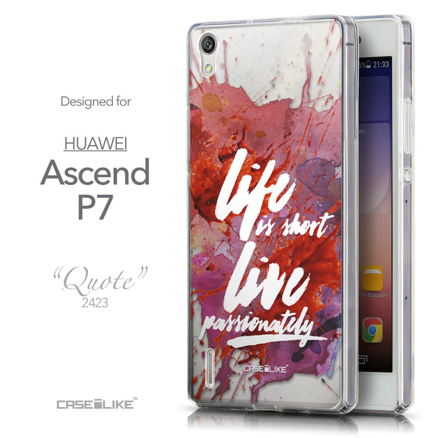 Front & Side View - CASEiLIKE Huawei Ascend P7 back cover Quote 2423