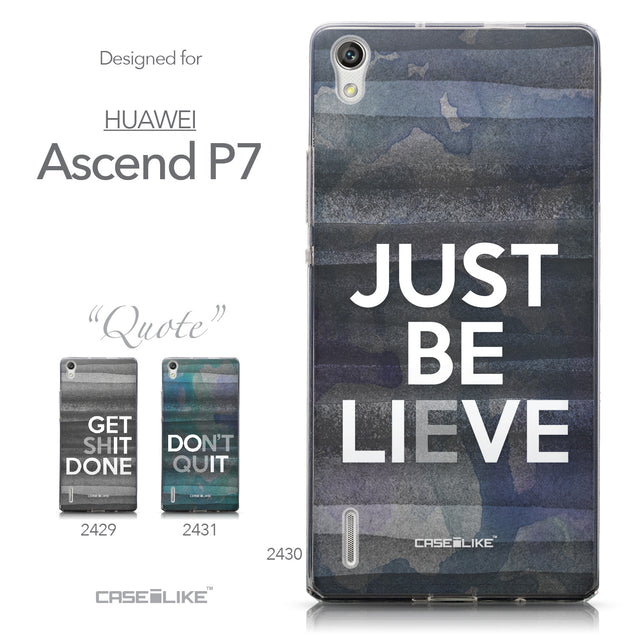Collection - CASEiLIKE Huawei Ascend P7 back cover Quote 2430