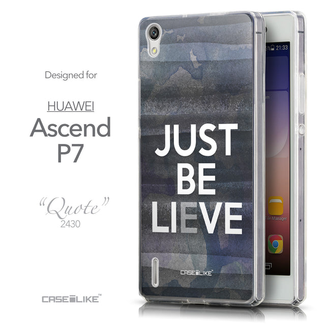 Front & Side View - CASEiLIKE Huawei Ascend P7 back cover Quote 2430