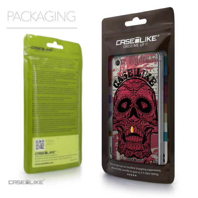 Packaging - CASEiLIKE Huawei Ascend P7 back cover Art of Skull 2523