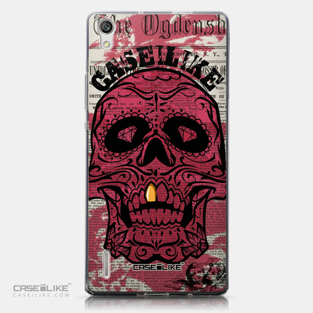 CASEiLIKE Huawei Ascend P7 back cover Art of Skull 2523