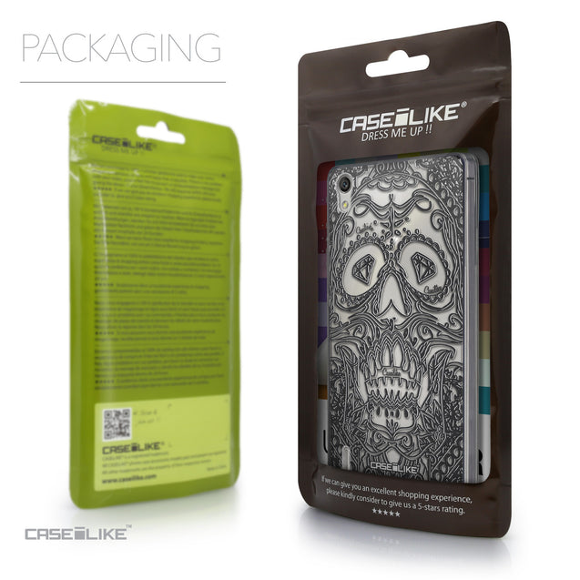 Packaging - CASEiLIKE Huawei Ascend P7 back cover Art of Skull 2524