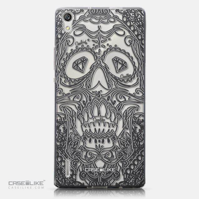 CASEiLIKE Huawei Ascend P7 back cover Art of Skull 2524