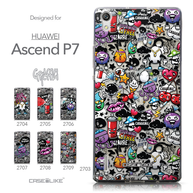 Collection - CASEiLIKE Huawei Ascend P7 back cover Graffiti 2703