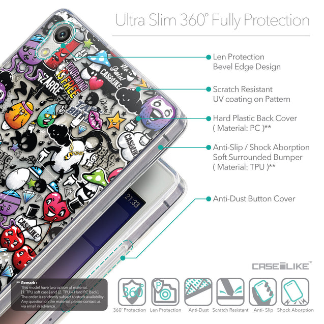 Details in English - CASEiLIKE Huawei Ascend P7 back cover Graffiti 2703
