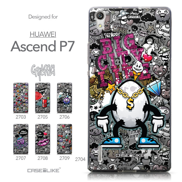 Collection - CASEiLIKE Huawei Ascend P7 back cover Graffiti 2704