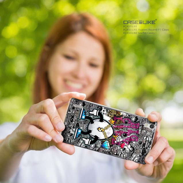 Share - CASEiLIKE Huawei Ascend P7 back cover Graffiti 2704