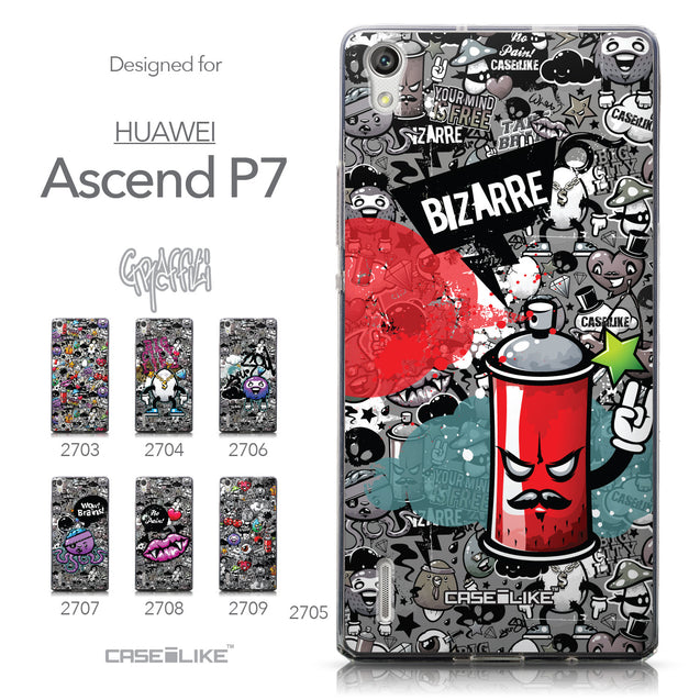 Collection - CASEiLIKE Huawei Ascend P7 back cover Graffiti 2705