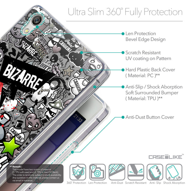 Details in English - CASEiLIKE Huawei Ascend P7 back cover Graffiti 2705