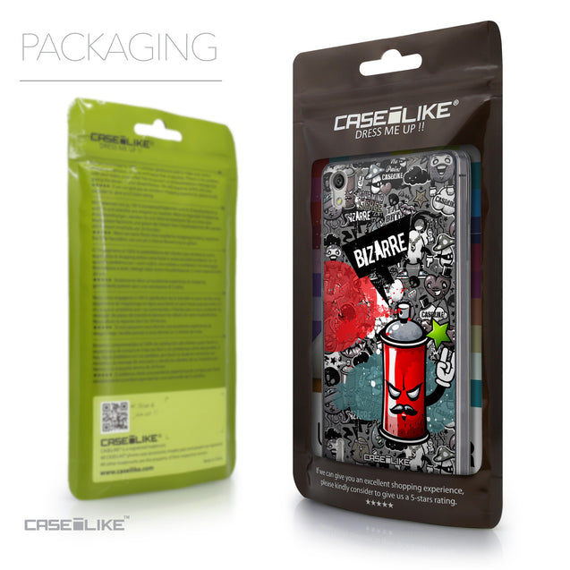 Packaging - CASEiLIKE Huawei Ascend P7 back cover Graffiti 2705