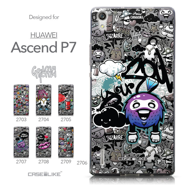 Collection - CASEiLIKE Huawei Ascend P7 back cover Graffiti 2706