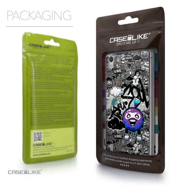 Packaging - CASEiLIKE Huawei Ascend P7 back cover Graffiti 2706