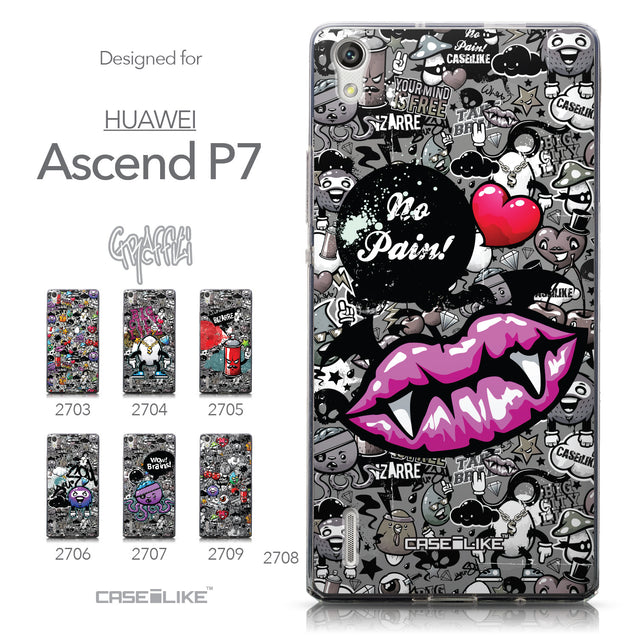 Collection - CASEiLIKE Huawei Ascend P7 back cover Graffiti 2708
