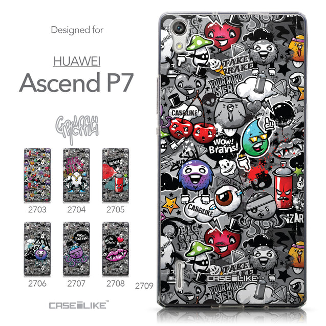 Collection - CASEiLIKE Huawei Ascend P7 back cover Graffiti 2709