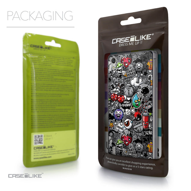 Packaging - CASEiLIKE Huawei Ascend P7 back cover Graffiti 2709