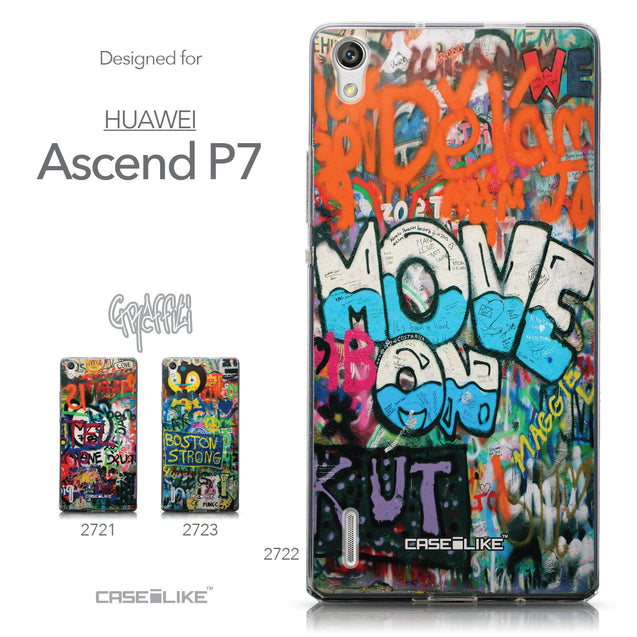 Collection - CASEiLIKE Huawei Ascend P7 back cover Graffiti 2722