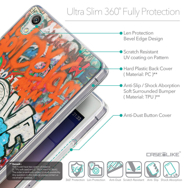 Details in English - CASEiLIKE Huawei Ascend P7 back cover Graffiti 2722
